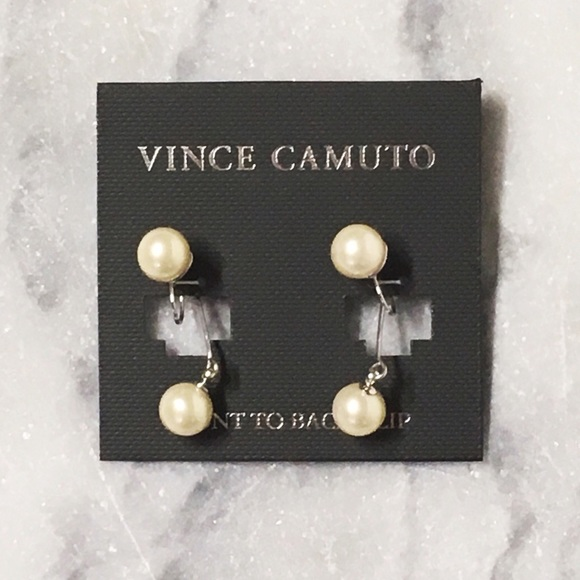 Vince Camuto Jewelry - Vince Camuto Pearl Clip Back Earrings NWT